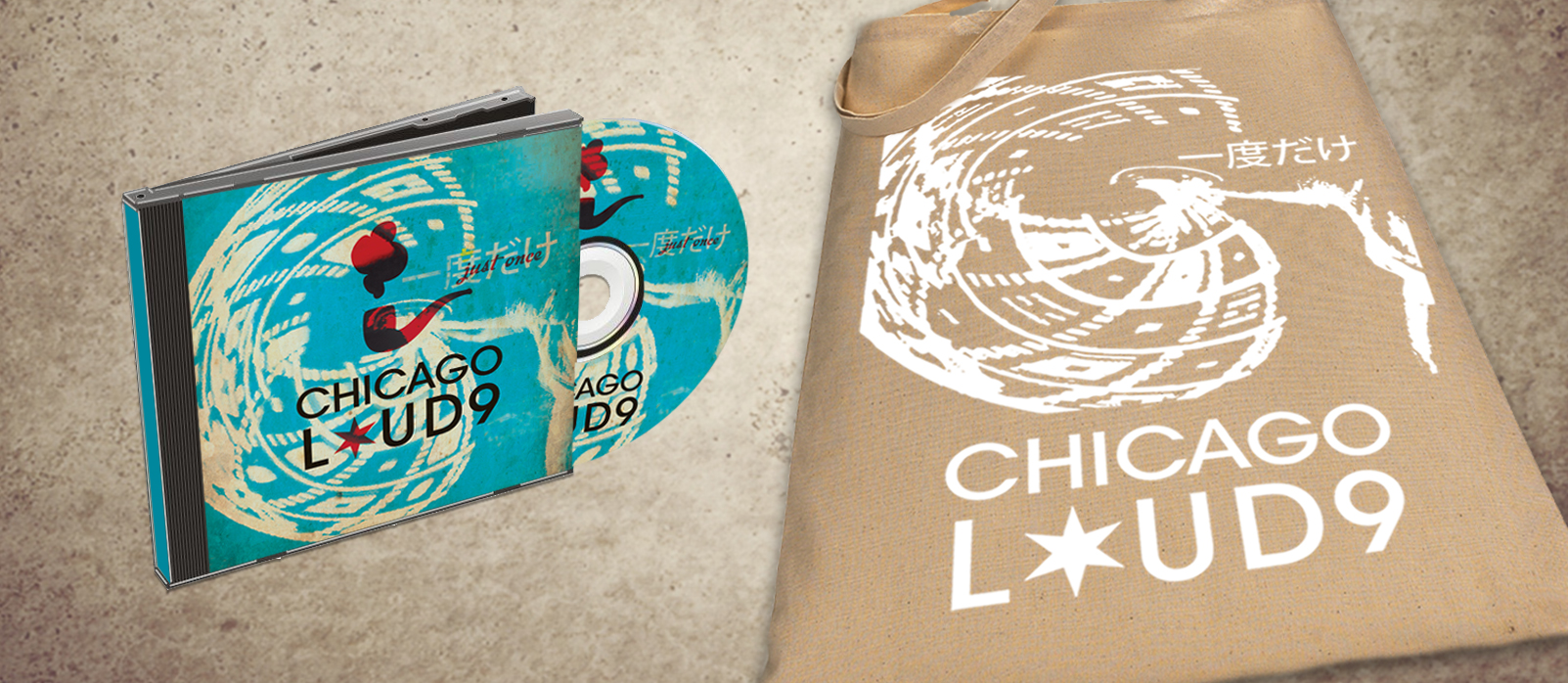 Chicago Loud 9 - Graphic Design, Logo, Bag, Brand Identity, CD, Print Design, Print Production